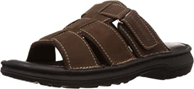 Hush Puppies Men's Sedan Mule Leather Flip Flops Thong Sandals