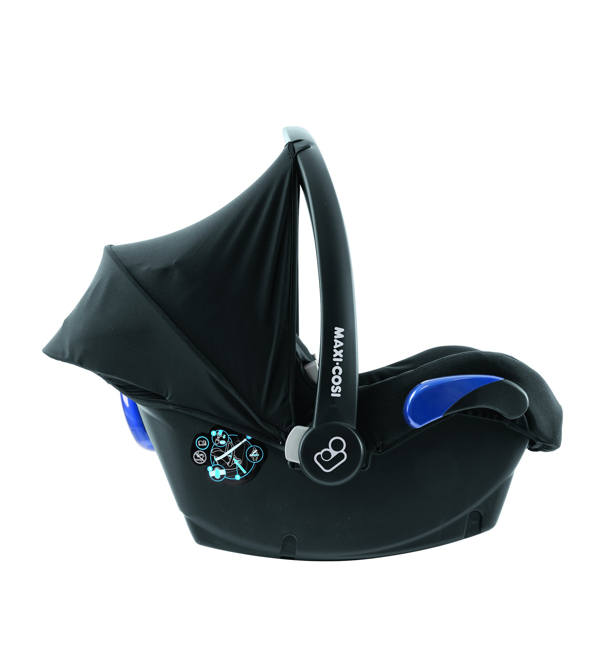 Maxi-Cosi Kinderautositz Citi Black Raven Maxi-Cosi Side protection system, guarantees optimal protection in the event of a side impact Lightweight, light weight and ergonomically shaped safety bar for use as carrying handle Practical travel system 10
