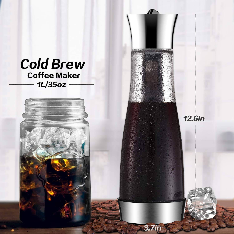 Kalten-Brew-Iced-Kaffeemaschine-und-Tee-Ei-mit-Auslauf-Glaswasser-Pitcher-Tee-Kaffeemaschine-Wein-Flaschen-Saft-Glas-mit-Ineinander-Greifen-Filter-lecksichere-Dichtung-Wasser-Karaffe-10-L35-OZ