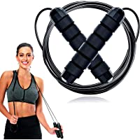 Skipping Rope Adult Fitness for Men & Women Speed Jumping Rope Comfortable Handle For Fat Loss Burning Exercise Best For…