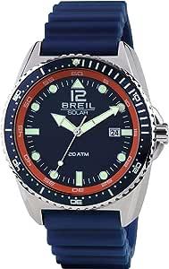 Orologio BREIL uomo SUBACQUEO SOLARE quadrante blu e cinturino in poliuretano blu, movimento SOLO TEMPO - 3H SOLARE