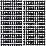 500 Pièces Autocollantes Crochets et Boucles en Nylon Pastille Adhesive 10mm Diamètre Points Ronds Auto-adhésifs (Noir)