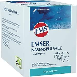 """Emser Nasenspülsalz Physiologisch€"""" Nasendusche Bei Erkältung, Allergie Und Zur Nasenpflege€"""" 100 X 2,5 G Beutel"""
