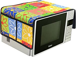 RED HOT Designer Microwave Top Cover (Green, AT-MCTOP-Flower)