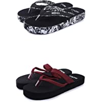 BEONZA Women Doctor Ortho Combo Pack of 2 Pairs of Flip Flops Slippers