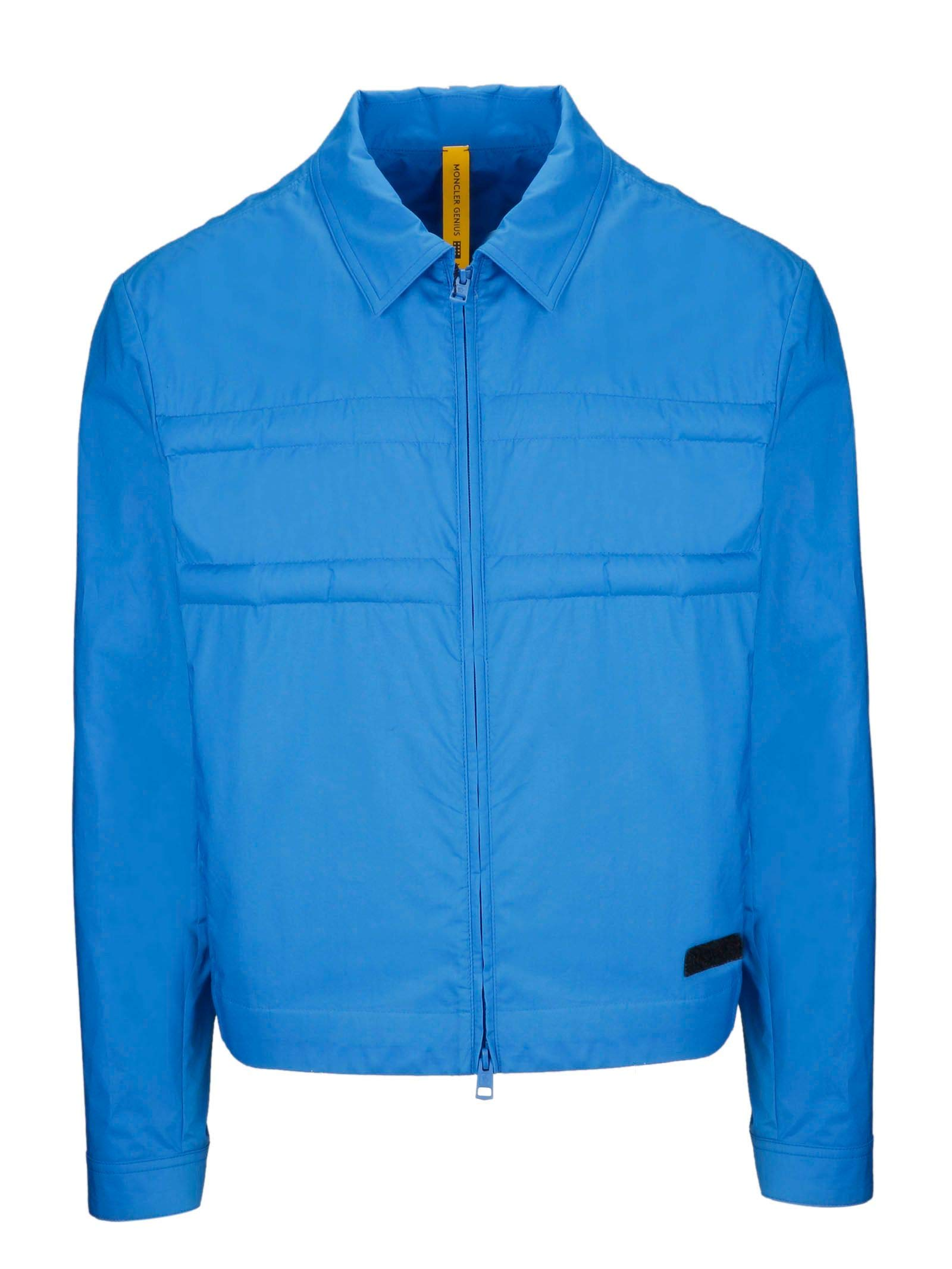 the best attitude 72a2d 3c3e8 Moncler Giacca Outerwear Uomo 410235054A2P736 Cotone Blu - Face Shop