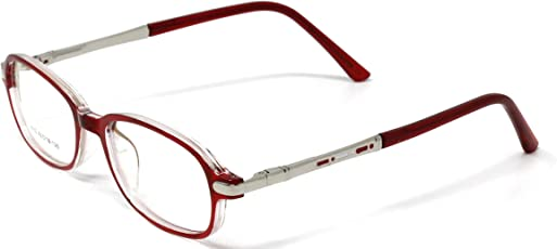 Fusine™ Eye Wear Specs Full Rim Shell Unisex Spectacles Children Frames for Distant Power Vision & Reading Glasses for Kids(boys & girls ) (Red)