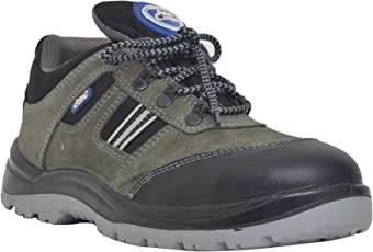 Allen Cooper 1156 Men's Safety Shoe, Size-8 UK, Grey