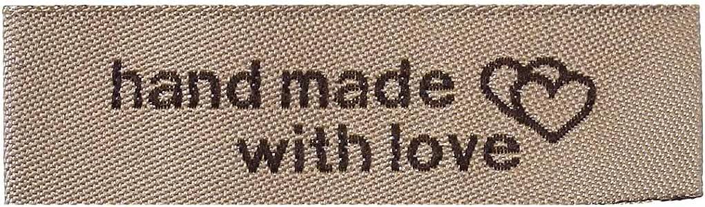 diversi motivi a scelta. confezione da 10 Etichette in tessuto fatte a mano