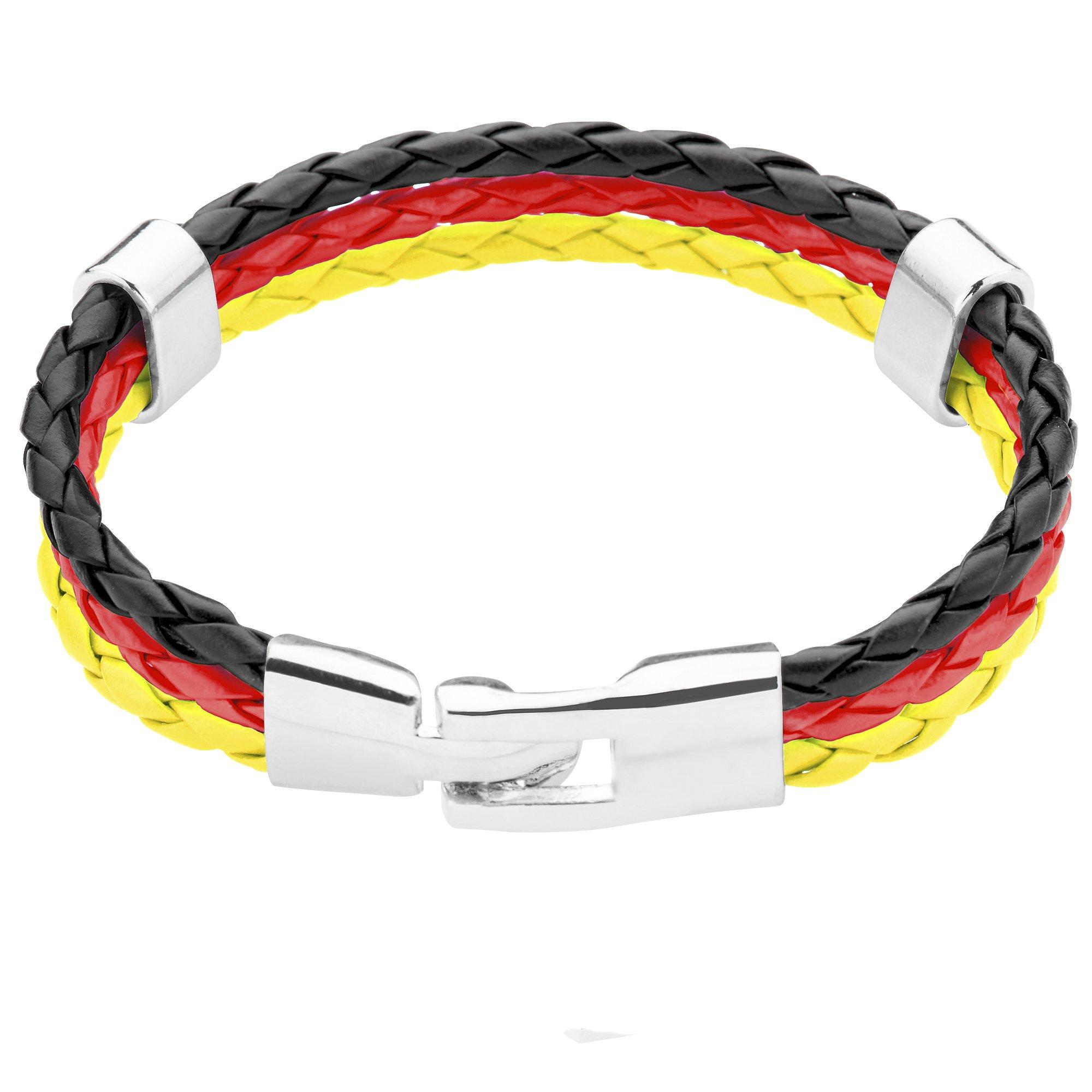 Taffstyle® Bracciali stilistici PU in pelle corda articolo da fan Mondiale di calcio 2014 & Europeo