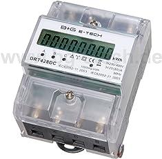 digitaler Stromzähler Drehstromzähler Wattmeter für DIN Hutschiene , Energiemessgerät mit Wattanzeige 3x230/400V 20(80)A