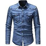 Men Shirt Men Denim Shirt Casual Comfortable Classic Lapel Men Shirt Autumn New Long Sleeve Slim Buttoned Casual Men Shirt Fa