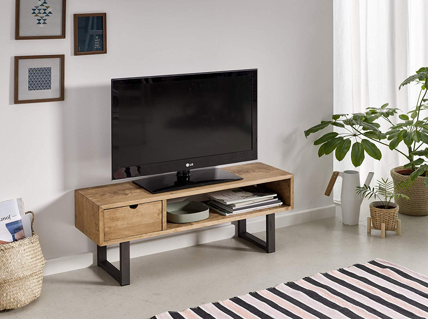 New Meuble Tv Salon En Bois