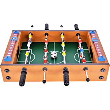 WIN.MAX Mini Foosball Divertimento 35*22*8 Birthday Holiday Presenta (New Football Table)