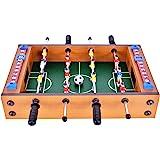 Win.max Mini Table de Football MDF Durable en Intérieur et à L'Extérieur Jeu 36,5 cm x 21,5 cm x 9cm Intéressant pour Les Cadeaux de Fête et d'anniversaire