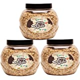 Nutriorg Certified Organic Gluten Free Rolled Oats 1500g ( Pack of 3*500g) | Made from 100% Organic Produce | Weight Manageme