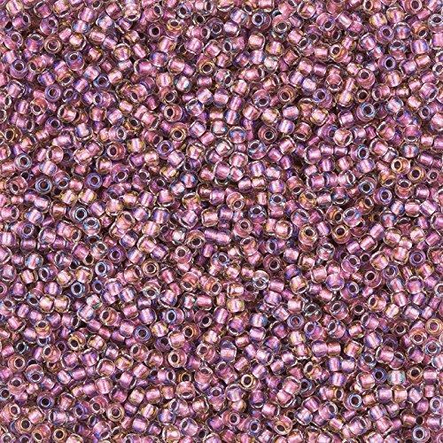 Toho Rocailles 11Farbe Innenseite Kristall/Rose Gold gefüttert (Rohr Gefüttert-rose)