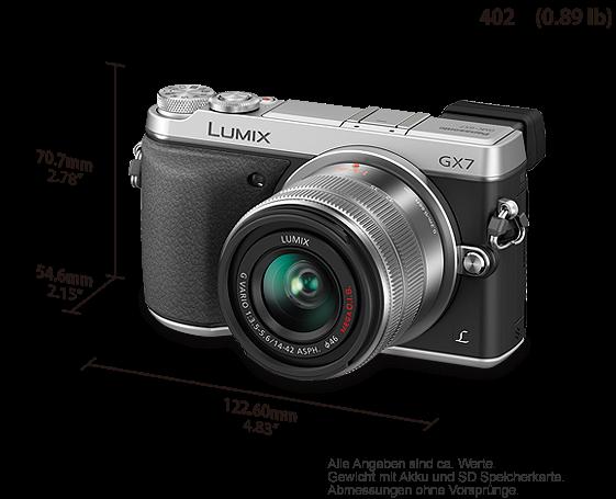Panasonic Lumix DMC-GX7 Systemkamera 3 Zoll mit: Amazon.de