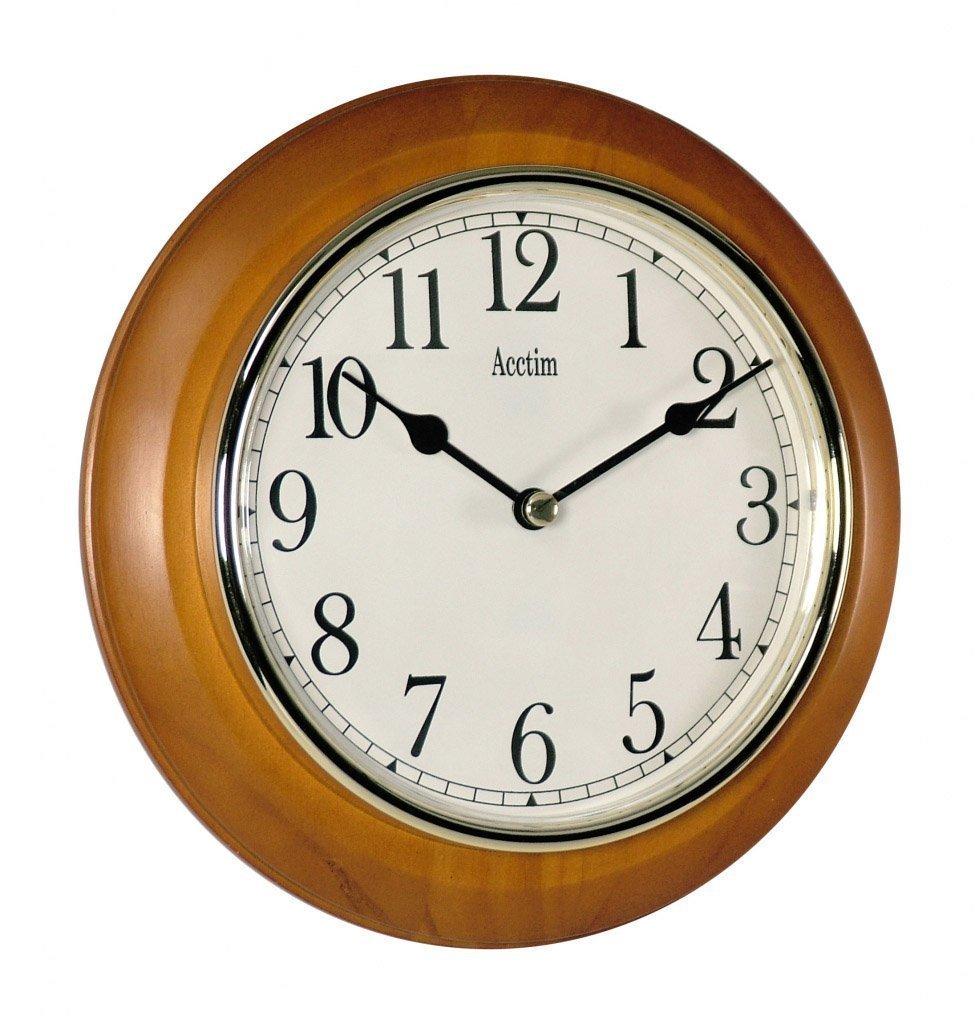 Acctim 24170 maine wall clock cherry amazon kitchen home amipublicfo Choice Image