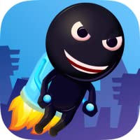 Flappy StickyMan - Le Vol Jetpack