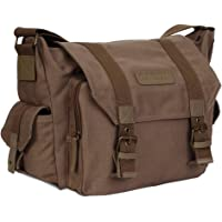 CADeN Kameratasche, Foto Travel Compact Leinwand Vintage Schultertasche Kamera Bag mit Gepolsterter Einlage Kompatibel…