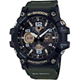 CASIO G-Shock Resin Band Analog Digital Watch for Men - Black and Olive