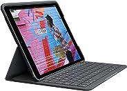 Logitech SLIM FOLIO für iPad der (7. Generation) Tastatur-Case mit Bluetooth (Modell: A2197, A2200, A2198) Grafit (Qwertz)