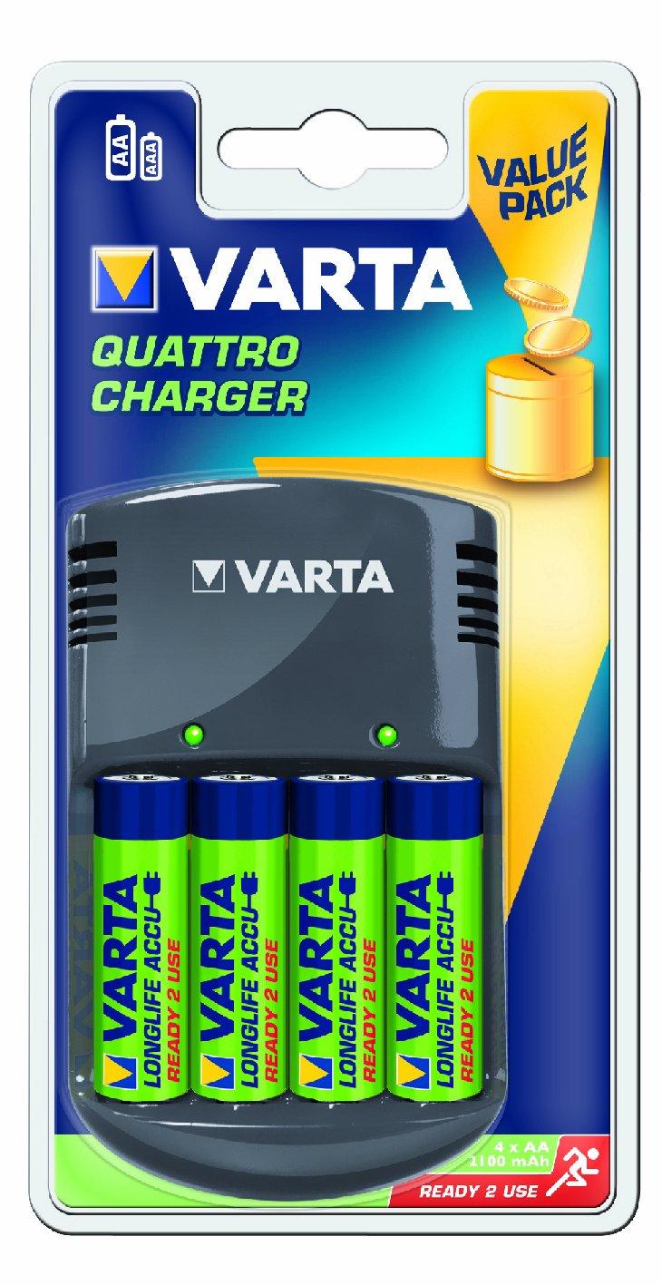 Varta Caricatore Quattro (Incl. Accu 4X Aa 2100Mah) - 57617