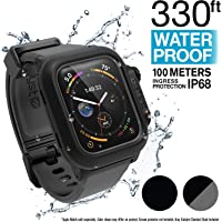 Catalyst Étui étanche pour Montre Apple Watch séries 4 44mm avec Bracelet en Silicone Souple de qualité supérieure, résistant aux Chocs et aux Éléments [étui Robuste iWatch Protective] - Gris
