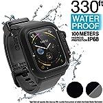 Catalyst Étui étanche pour Montre Apple Watch séries 4 44mm avec Bracelet en Silicone Souple de qualité supérieure...