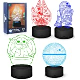 Lámpara de noche de Star Wars, 16 colores cambiantes, lámpara decorativa 3D con mando a distancia, regalo fans de Star Wars,