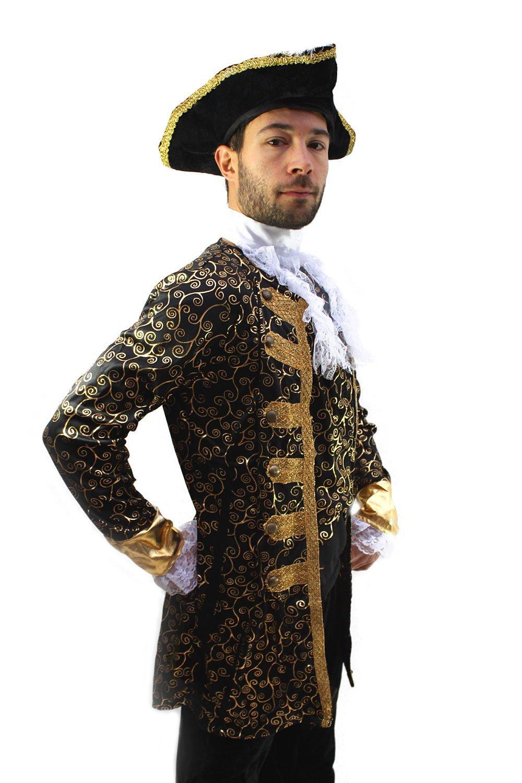 dressmeup Kostüm Edelmann Pirat Kapitän Barock Herren Gr. 48