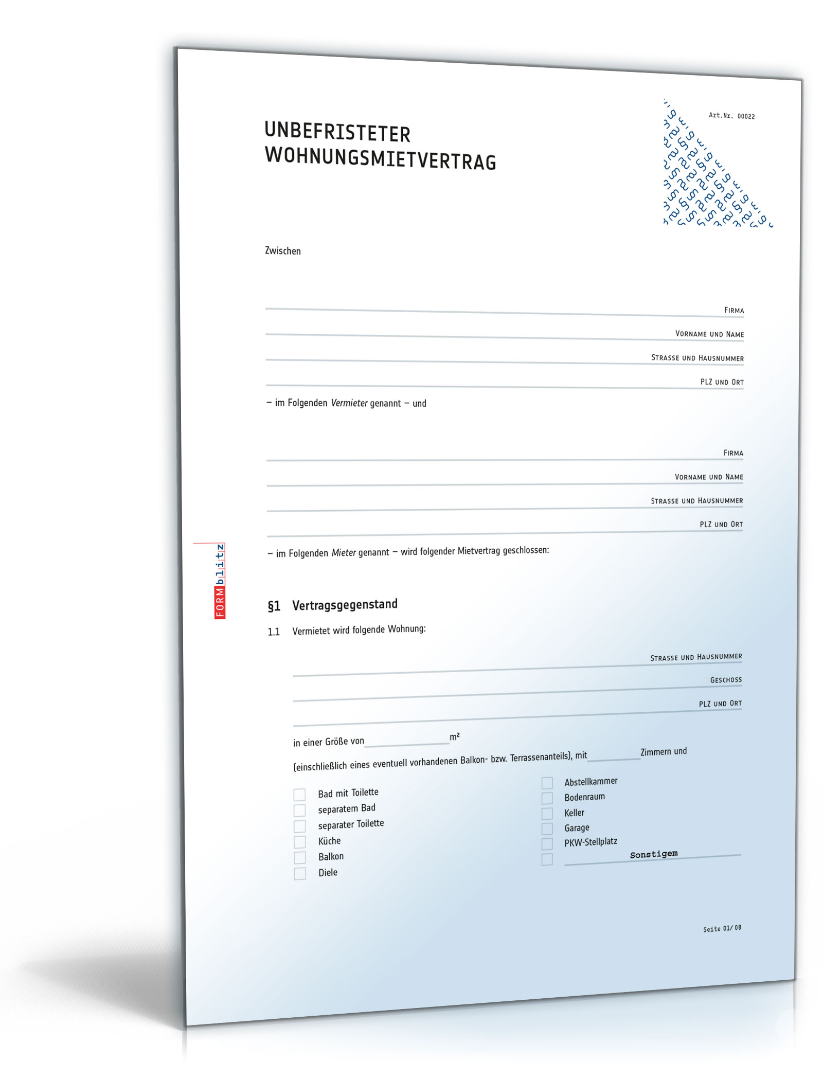 Mietvertrag: Muster zum Download (DOC) [Download]