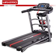MAXPRO PTM405M 2HP(4 HP Peak) Multifunction Folding Treadmill, Electric Motorized Power Fitness Running Machine with LCD Dis