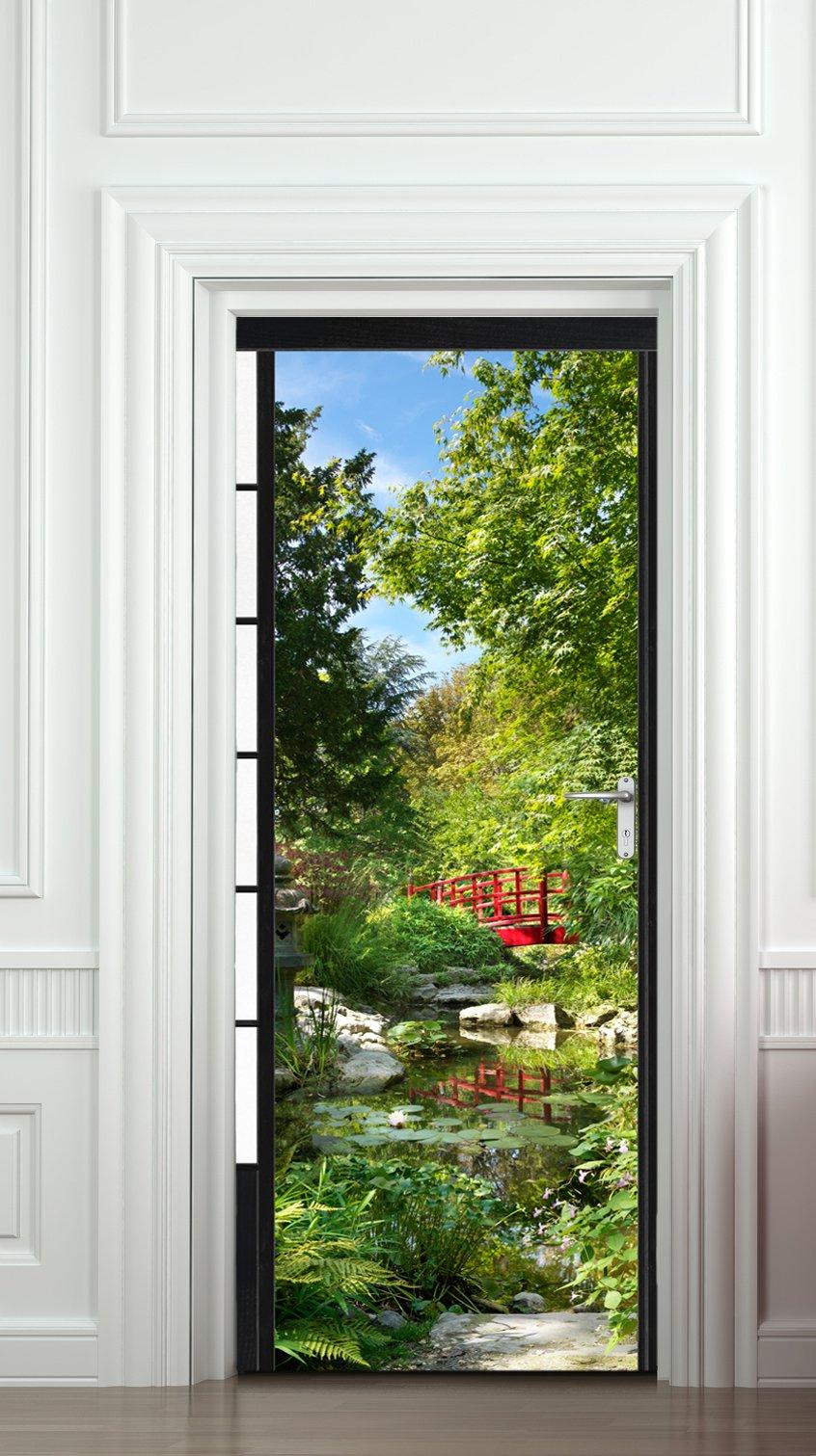 plage 141020 osaka sticker pour porte 204 cm x 83 cm inspid co. Black Bedroom Furniture Sets. Home Design Ideas