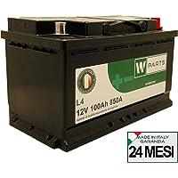 W-Parts Batteria Auto 100 Ah - 850A Spunto   Garanzia Italia   315x175x190   100Ah  