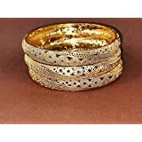 Chinese gold bracelets engraved with lobes3 pieces Size 65