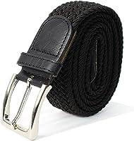 Glamexx24 Unisexe Tissu élastique Ceinture tressée Stretchbelt ceinture étirable pour les hommes et les femmes