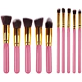 Spanking Beauty Foundation, Eyeshadow Makeup Brush Set, Black(Set Of 10)
