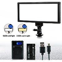VILTROX L132T 5600K / 3300K Lumière Vidéo LED Photo Studio Panneau Lumineux avec batterie NP-F550 et chargeur USB