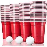 TRESKO® rode partybekers 100 stuks | beer pong party cups | 473 ml (16 oz) | bierpong bekers extra sterk | plastic bekers kun