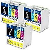 Jagute 27XL Compatibili per Epson 27 27XL T2711 Alta Capacità Cartucce d'inchiostro per Epson WorkForce WF-7610 WF-7620 WF-3620 WF-3640 WF-7110 WF-7710 WF-7715 WF-7720 WF-7210 (27XL- 12PACK)