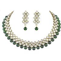 Shining Diva Party Wear Kundan Choker Traditional Jewellery Necklace Set with Earrings for Women Girls