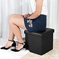 Tied Ribbons Collapsible Ottoman Cum Storage Units For Bed Room  Collapsible Table Foot Stool, Footrest Step Stool For…