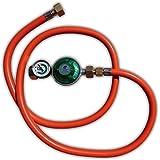 Gasregelaar/slang set 50 mbar met 1/2 inch aansluiting