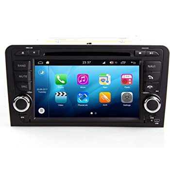 Roverone Android Sistema 7 Pulgadas Doble DIN en Dash Coche GPS Navi Navegación para Audi A3