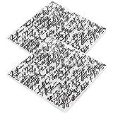 Dossiers de gaufrage 2 pièces, modèle de Scrapbooking concave-convexe pour la fabrication de cartes carte de décoration d'alb