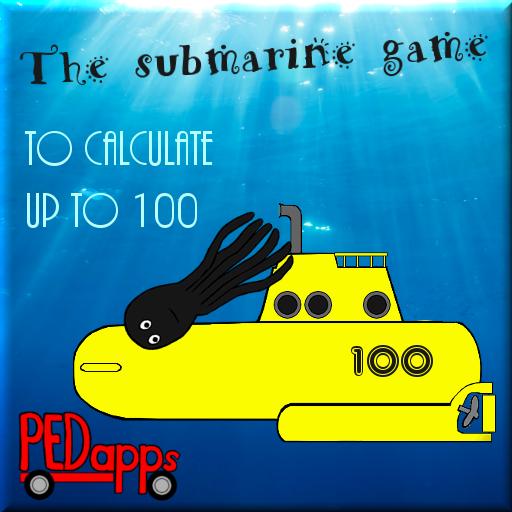 El juego submarino  para el cálculo a 100