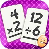 Multiplikation Und Division Mathe Flashkarte Spiel-Spiele Für Kinder In Der 2. Und 3. Klasse
