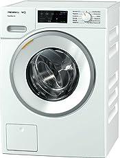 Miele WWE 320 WPS Waschmaschine Frontlader / A+++ / 157 kWh/Jahr / 1400 UpM / 8 kg Schontrommel / 59min-Waschprogramm mit PowerWash 2.0 / Vorbügel-Funktion für leichteres Bügeln